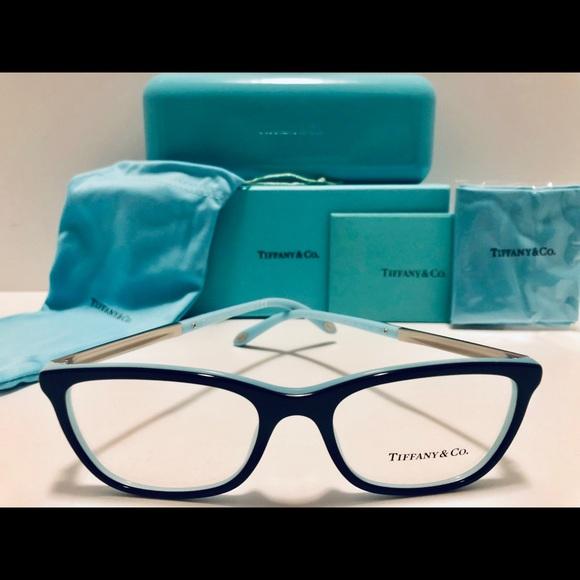 ea3df24d6645 Tiffany   Co. Eyeglasses Black Blue w  Silver New